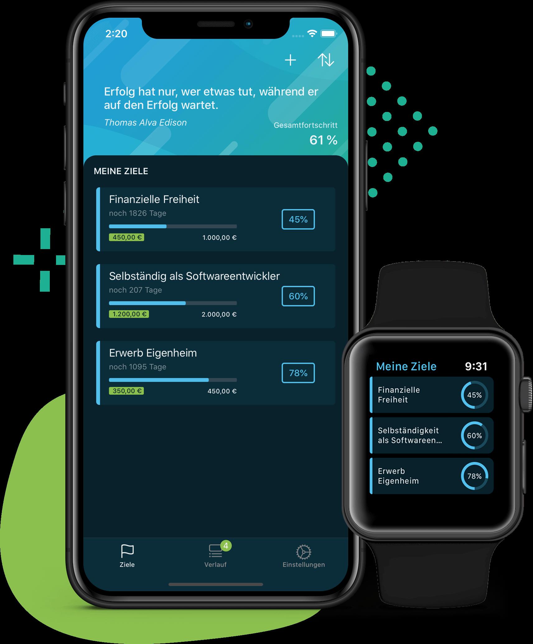 Ziele in der App